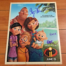 INCREDIBLES 2 SIGNED 11X14 MOVIE POSTER PRINT BY 4 CAST w/ PROOF CRAIG T. NELSON
