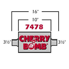 Cherry Bomb 35 Extreme Muffler 4 X 10 Oval Center Center 3 12 In Out Id