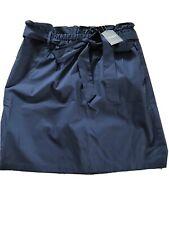 BNWT OASIS short Navy paperbag skirt UK 12