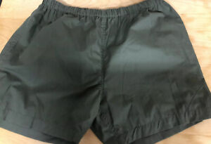 Mens Green stretchy shorts large summer