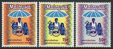 Malaysia 98-100, MNH. Introduction of Social Security System. Emblem, 1973