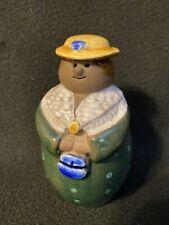 Vintage Jie Gantofta Annika Kihlman Pottery Lady Figurine Sweden Mrs Doubtfire
