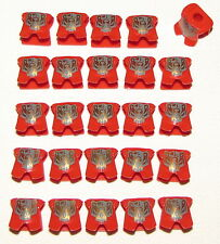 LEGO 25 NEW RED ARMOR CASTLE MINIFIGURE KNIGHT KINGDOMS GOLD BEAR PATTERN PARTS