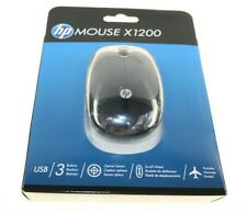 HP MOUSE X1200 HP 3 BUTTONS RUBBER SCROLL WHEEL BLACK QUALITY ACCESSORY