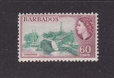 BARBADOS 1956 60c QEII DEFINITIVE MINT