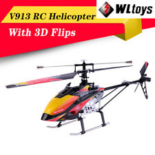 Wltoys V913 Brushed 2.4G 4CH Single Blade RC Helicopter Aircraft RC Plane RTF