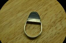 925 STERLING SILVER RAISED TAB HEMATITE SOLITAIRE RING BAND SIZE 9.75 #A4852