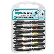 Letraset Aquamarker 12 Pen Promarker Aqua Marker Set 1 - AMT1