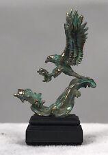 Daniel Kronberg Bronze Dollhouse Miniature Sculpture - Eagle Fishing for Salmon
