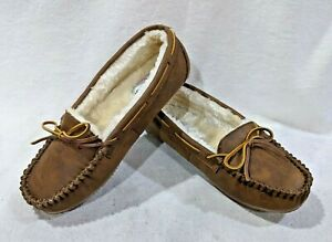 Minnetonka Britt Trapper Brown Fabric Women's Slippers - Size 6/7/11 NWB