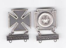 2 - US Military Sterling WWII medals pins - Marksman & Driver free U.S.A. ship