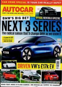 AUTOCAR MAGAZINE 6/13 OCTOBER 2021 (NEXT BMW 3 SERIES, ROLLS SPECTRE, VW EV) NEW