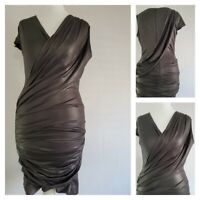 40 3 4 5 Vintage Elisabetta FRANCHI Orange Black Dress Viscose Italy Medium Sz