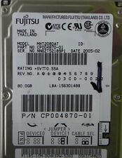 80GB Fujitsu MHT2080AT Laptop IDE Hard Drive P/N CP004870-01