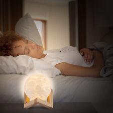 8 cm 3D 1 W rechargeable USB Moon Luna Nuit DEL Lampe de bureau Touch Sensor Light