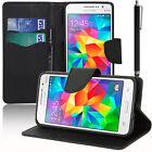 Housse Etui Portefeuille Silicone Effet Tissu Samsung Galaxy Grand Prime Duos TV