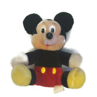 "Mickey Mouse Disneyland Walt Disney Plush 8"" Sitting Stuffed Toy World Vintage"