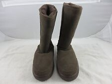 Bearpaw Sheepskin Lined Suede Boots Women's Size 7 Brown Chocolate