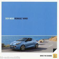Renault Wind Prospekt 7/10 Autoprospekt 2010 Broschüre brochure brosjyre Katalog