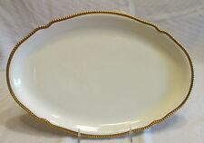 Vintage Castleton China Sovereign Cream w/Gold Beaded Edge Oval Serving Platter