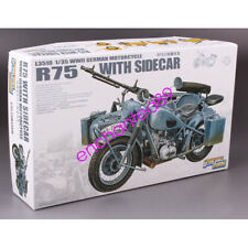 Great Wall Hobby L3510 WWII German Motorcycle R75 with Sidecar 1/35