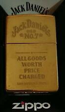 Jack Daniels Brass Zippo Lighter, circa 1998