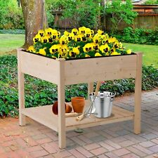 Clearance Sale Outsunny Garden Tall Flower Bed Box Elevated Garden Plant Stand