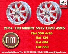 2 Cerchi FIAT 126 850 500 Minilite 5x12 ET20 4x98 Wheels Felgen Llantas Jantes