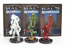 HALO Action Clix ~ Master Chief ~ Red Spartan ~ Covenant Major Elite Active Camo