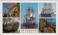 Australia Chrome Postcard The Endeavour Captain Cook's Ships