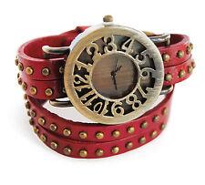 axy® Wickelarmbanduhr -Echt Leder-Herren Damen-Armbanduhr-Wickelarmband-Watch