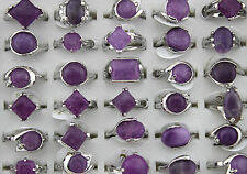 Charm Style Mixed 10pcs Wholesale Lots Nature stone Lady's rings