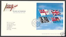 2001 FLAGS AND ENSIGNS  M/SHEET SGMS2206 ON FDC