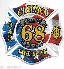 """Chicago  Engine-68  """"Est. 1891"""", IL  (4.5"""" x 4.5"""" size) fire patch"""