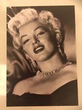 MARILYN MONROE 1980s POSTCARD 1952 diamante jewellery (Gallery Card)