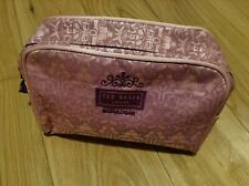 Ted Baker Bodywear Pink Small Toiletries Overnight Make Up Light Purple Bag