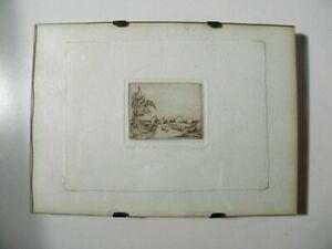Schöne kleine Vintage Radierung - Motiv Evolution-  Signiert - Auflage 4/30