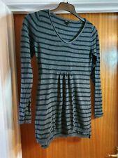 Maternity jumper dress - size S h&m mama black grey tunic