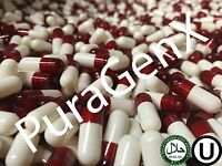 1000 EMPTY GELATIN COLOR CAPSULES - RED/WHITE - SIZE 0 - (KOSHER) US QUALITY