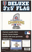 2016 WORLD SERIES CHAMPIONS Chicago Cubs Deluxe 3' x 5' w/championship trophy