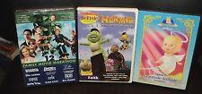3 FAMILY DVD: 12 Movie Marathon (NEW) Hermie & Friends, Cherub Wings: DVD Lot