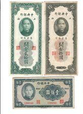 CINA CHINA 7 banconote diverse 1930 - 1941 - 1965 - 1980 LOTTO 546
