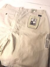 Bill Blass Men's Shorts Size 36W Tan Casual 100% Cotton Casual With Tags