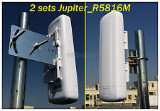 4m 6km long distance point to point 5G 300m wireless connection 2*Jupiter_R5816M