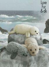 [25] Knitting Pattern Luxe fur dk seal plush toy