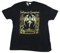 Hollywood Vampires Cover Art Bat Skeletons Black T Shirt New Official Band Merch