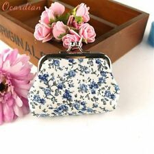 Small Wallets Girls Retro Vintage Floral Coin Purses For Women Hasp Cute Clutch