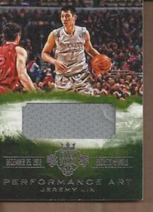 2013-14 Court Kings Performance Art Memorabilia #14 Jeremy Lin Jersey /299