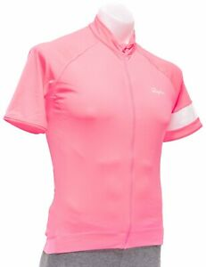 Rapha Core Short Sleeve Cycling Jersey Men LARGE Hi-Vis Pink Road Bike Gravel CX