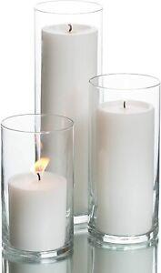 Glass Cylinder Vases Wedding table decoration flower candle holder HAND MADE